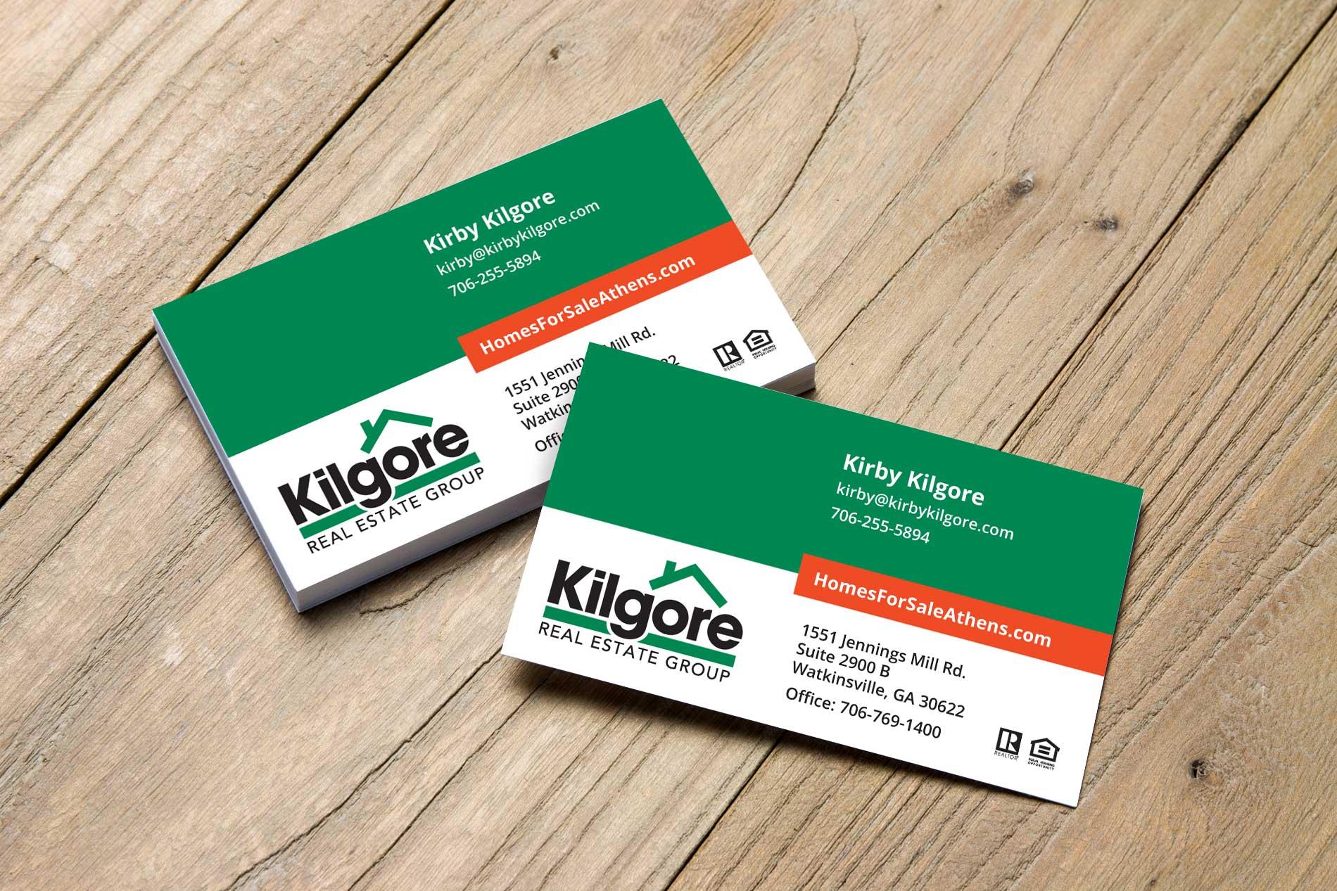 Kilgore Real Estate Group Business Cards – ryanlitts creative